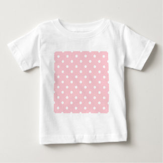 Small Polka Dots - White on Pink Baby T-Shirt