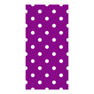 Small Polka Dots - White on Purple Card