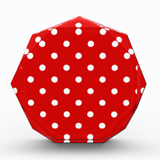 Small Polka Dots - White on Rosso Corsa Award