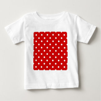 Small Polka Dots - White on Rosso Corsa Baby T-Shirt