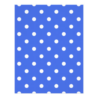 Small Polka Dots - White on Royal Blue Letterhead