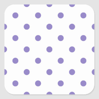 Small Polks Dots - Ube on White Square Sticker