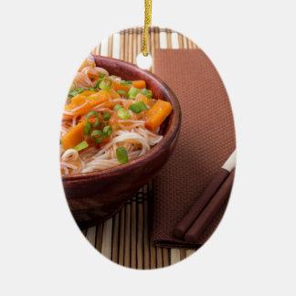 Small portion of rice vermicelli hu-teu ceramic ornament