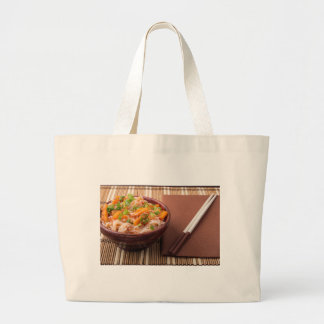 Small portion of rice vermicelli hu-teu large tote bag