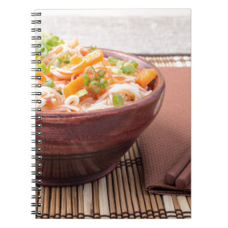 Small portion of rice vermicelli hu-teu notebook