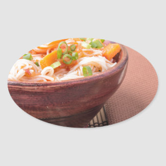 Small portion of rice vermicelli hu-teu oval sticker