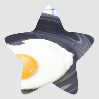 Small portion of the breakfast of fried egg star sticker