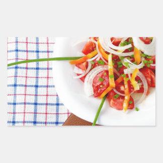 small portion of vegetarian salad rectangular sticker