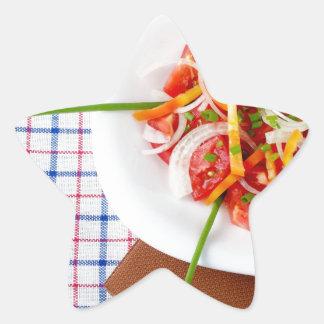 small portion of vegetarian salad star sticker