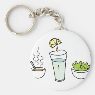 Small portions lunch keychain