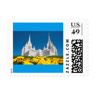 Small postage stamp SanDiego Temple