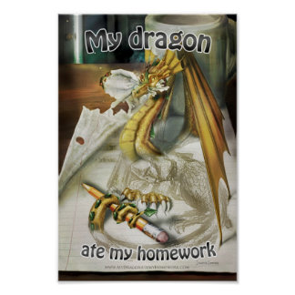 Small Poster - My Dragon Ate My Homework + Title