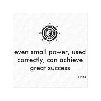 small power for big success gallery wrapped canvas
