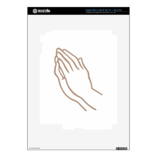 SMALL PRAYING HANDS DECAL FOR iPad 3