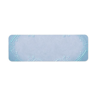 Small Pretty Blue Apothecary Label