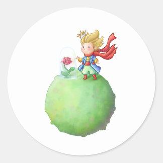 Small Prince Classic Round Sticker