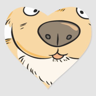 Small puppy wanting a snack heart sticker