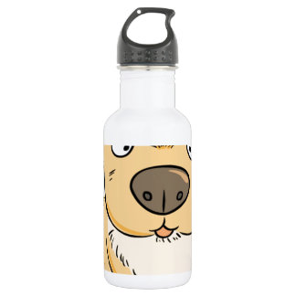 Small puppy wanting a snack stainless steel water bottle