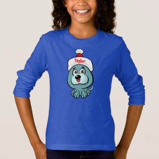 Small Puppy With Santa Hat T-Shirt