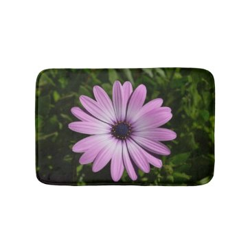 Hawaiian Themed Small Purple Daisy Bath Mat