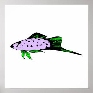 Small Purple Fish Print