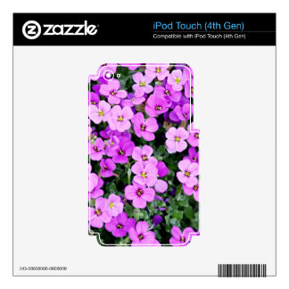Small Purple Flowers Decal For iPod Touch 4G