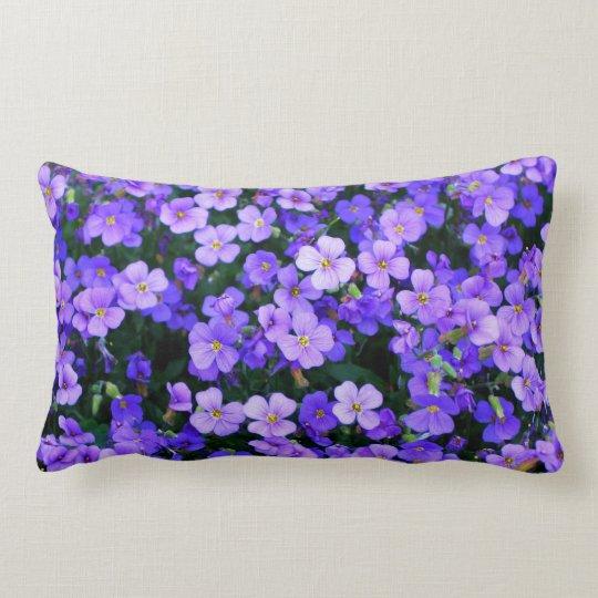 Small Purple Flowers Lumbar Pillow