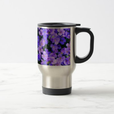Small Purple Flowers Mugs