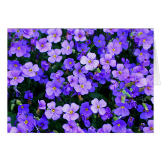 Small Purple Flowers Thank You Card