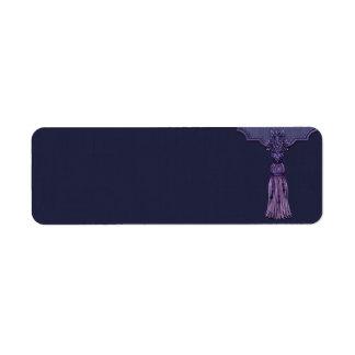Small Purple Tassel Apothecary Label