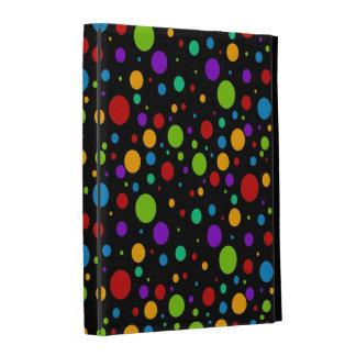 Small Rainbow Color Polka Dots iPad Folio Cover