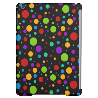 Small Rainbow Color Polka Dots Case For iPad Air