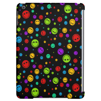 Small Rainbow Smiley Polka Dots Case For iPad Air