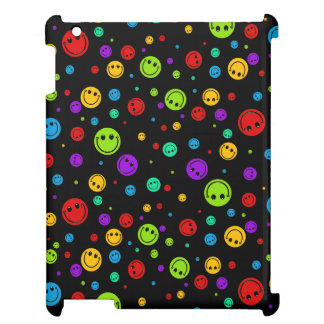 Small Rainbow Smiley Polka Dots iPad Mini Case
