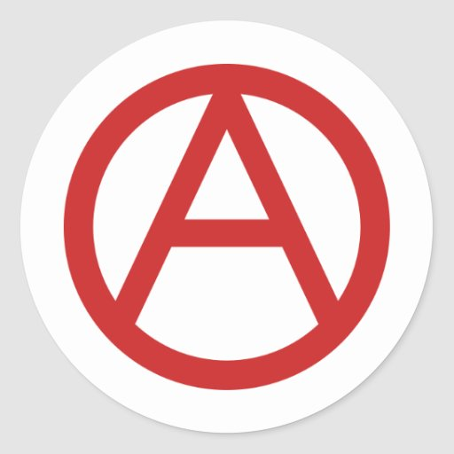 Small red anarchy sticker