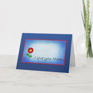 Small Red Heart Mother's Day Card