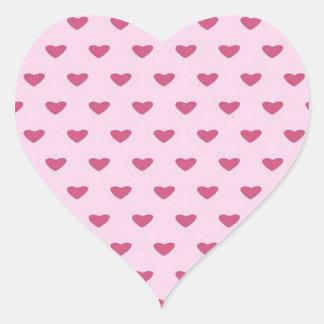 Small Red Hearts Heart Sticker