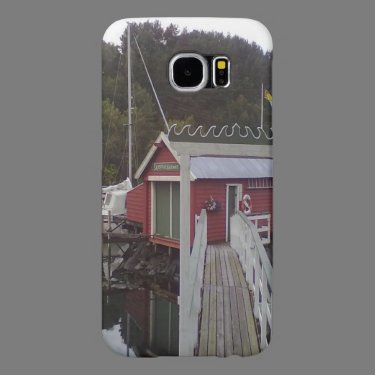Small red house and sea samsung galaxy s6 cases