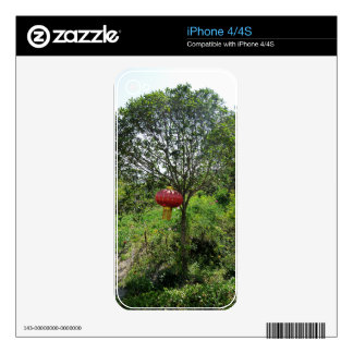 Small Red Lantern Decal For The iPhone 4S