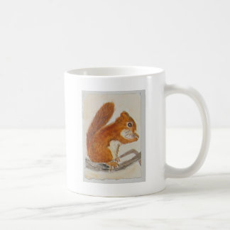 Small Red Squirrel via watercolor animal aceo Coffee Mug