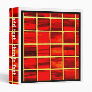 Small Red Tiles Background 3 Ring Binder