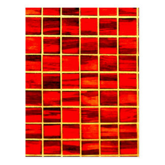 Small Red Tiles Background Postcard