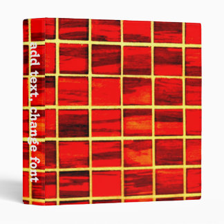 Small Red Tiles Background Vinyl Binders