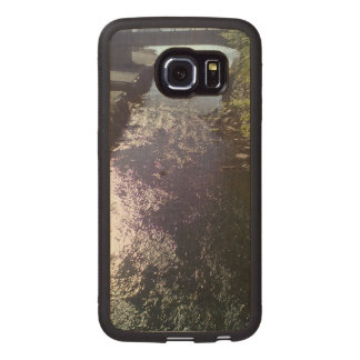 Small river going to the sea wood phone case