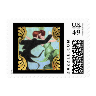 SMALL Roaring 20's Dancing Couple Postage Stamp