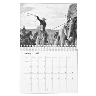 Small Rocking Lazy A Black And White 2017 Calendar