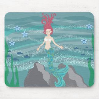 Small Rosa Mermaid Mouse Pad