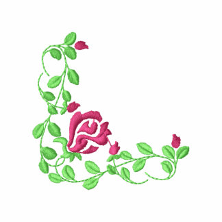 Small Rose Corner Embroidered Track Jacket