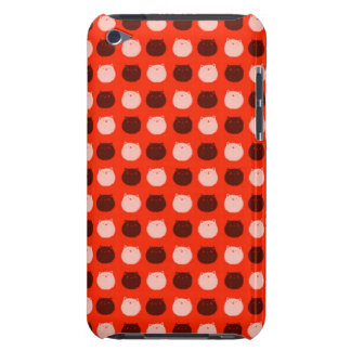 Small Round Cat Polka Dots Barely There iPod Cover