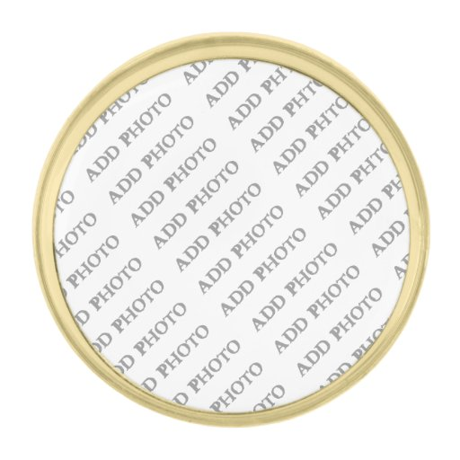 Small Round Gold Lapel Pin Create Your Own Zazzle